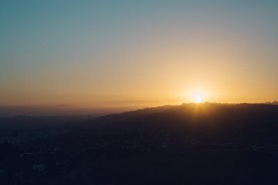 Sunrise On The Hills Above Los Angeles