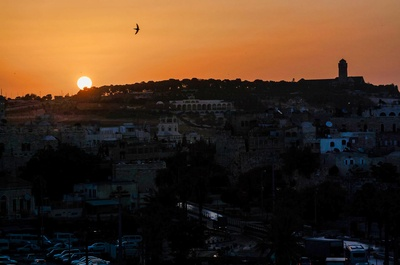 Sunrise in the Holy Land