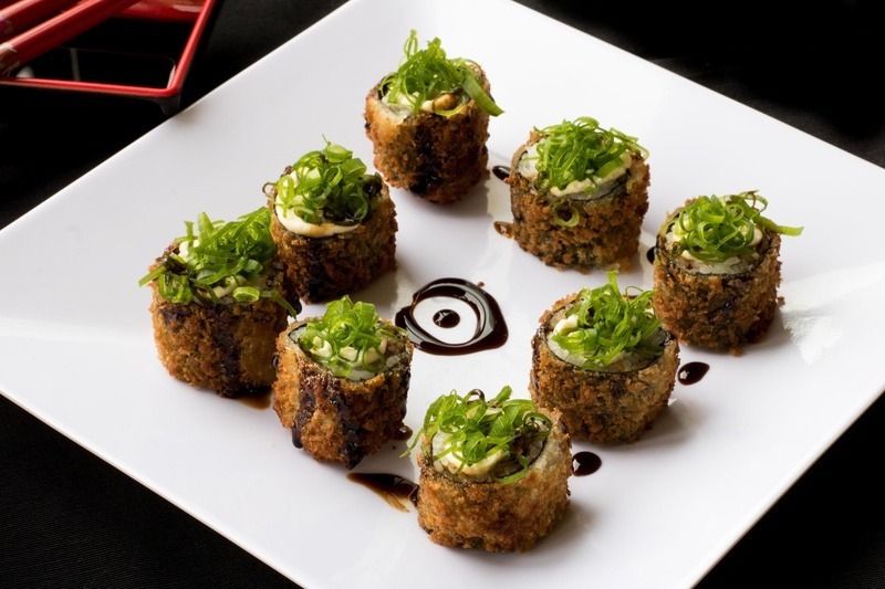 Sushi Food on Square White Plate