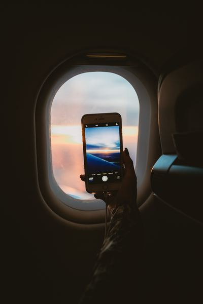Taking A Picture Through Plane Window