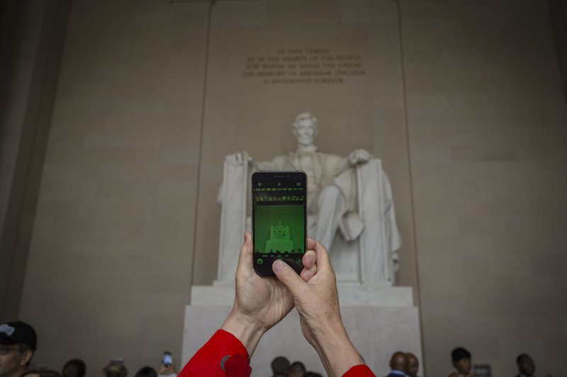 Taking A Shot Of The Lincoln Memorial