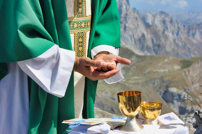 The Eucharist in the mountains