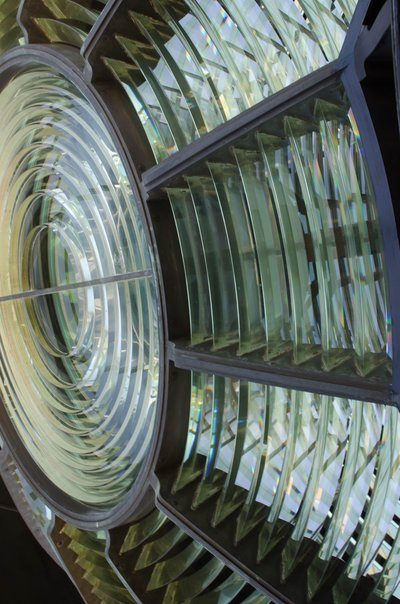 The Panes Of Glass From A Lighthouse Lamp
