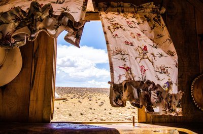 The Plains Of The Wild West Seen From A Caravan Window