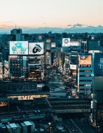 The Urban Landscape Of Tokyo In The Evening Light