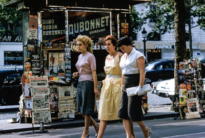 Three Women Walking on Road