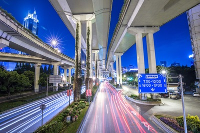 Time-Lapse Photography of Road at Nighttime