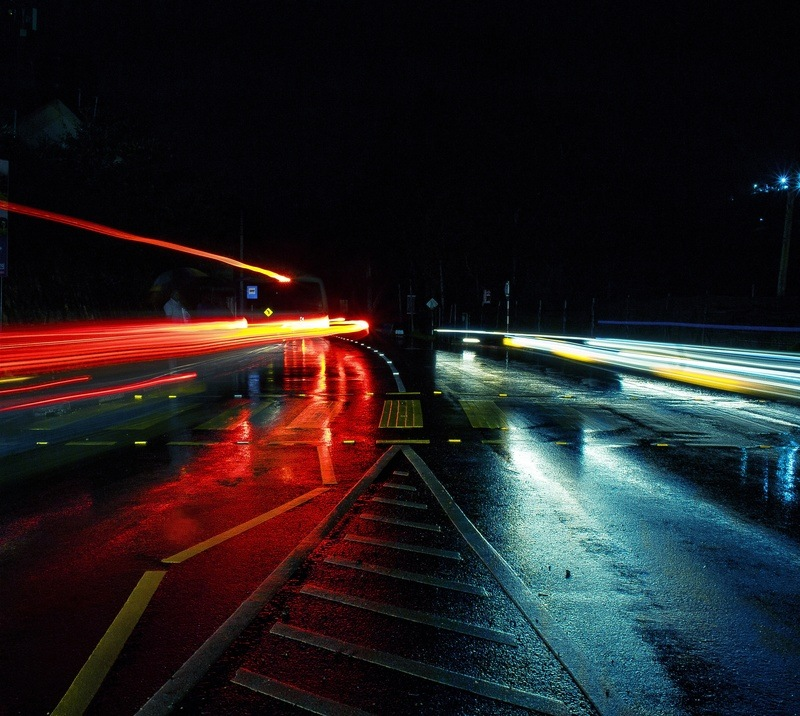 Time Lapse Road at Night Time