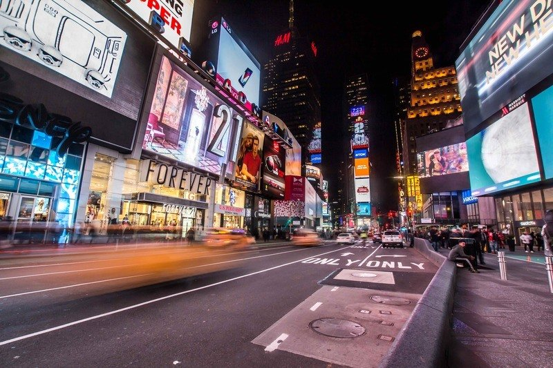 Timelapse Photography of New York Times Square
