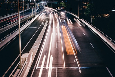 Timelapse Photography of Roads at Nighttime