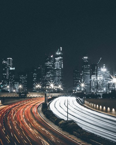 Timelapse  the Road with Cars