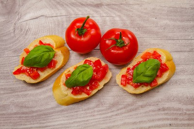 Tomatoes on Bread