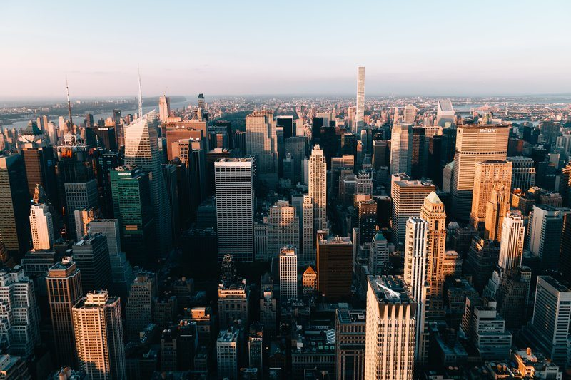 Towering New York Building From Above