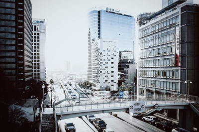 Traffic in the Streets of Seoul, South Korea