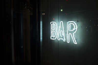 Turn-on White Bar Neon Sign
