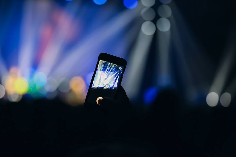 Using Phone at Music Concert