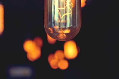 Vintage Bokeh Light Bulb