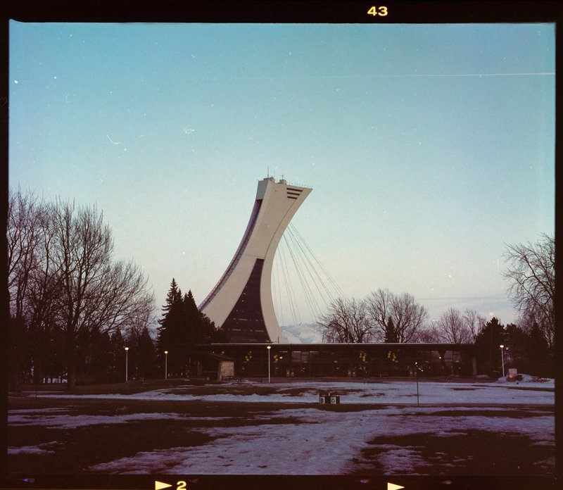 Vintage Photo Of The Montreal Tower With Black Border
