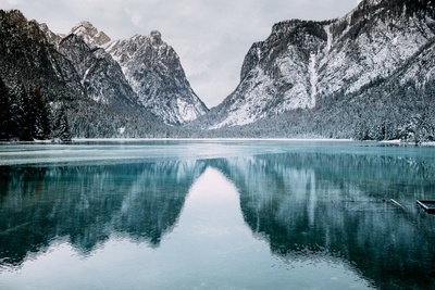 Water And Snow-Covered Mountains