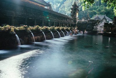 Water Fountain at Buddhist Temple