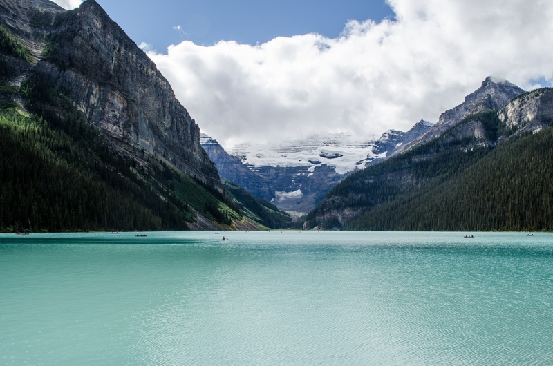 Water Surrounded By Mountains