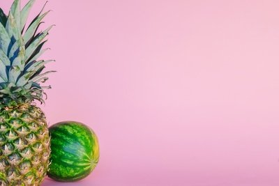 Watermelon Fruits on Pink Background