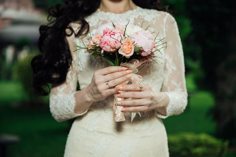Wedding Bride with Flowers