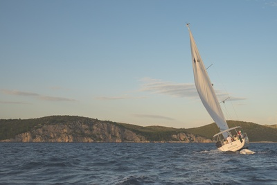 White Sailing Boat in Water