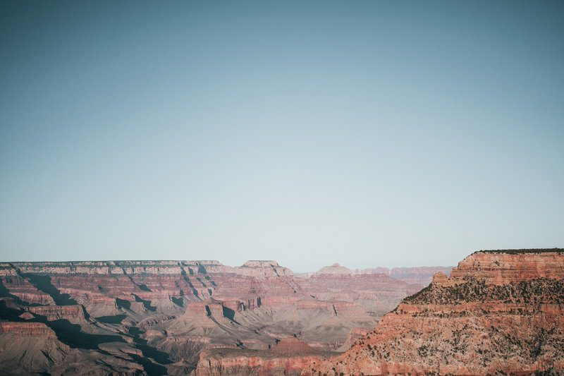 Wide Landscape Of Canyon And Sky