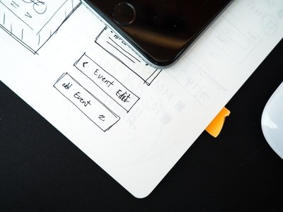 Wireframe Web Mobile Device Mouse