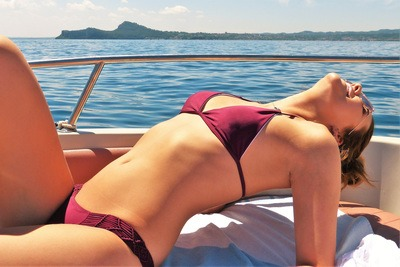 Woman on Summer Holiday Boat