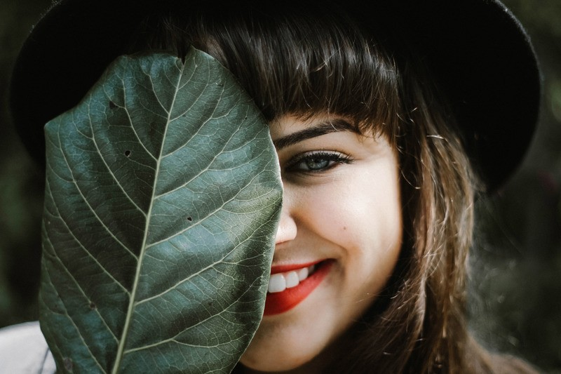 Woman's Face with Smile