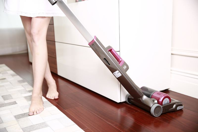 Woman with Hoover