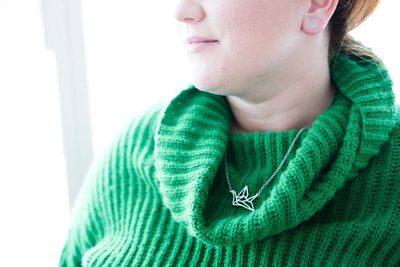 Women's Green Turtleneck