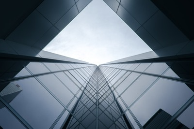 Worms Eye View of Building