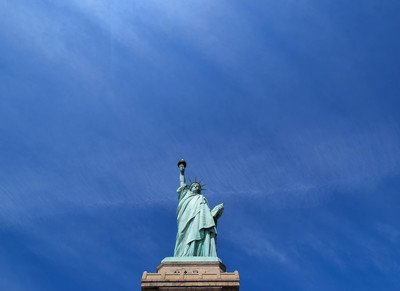 Worms Eye View of Statue of Liberty