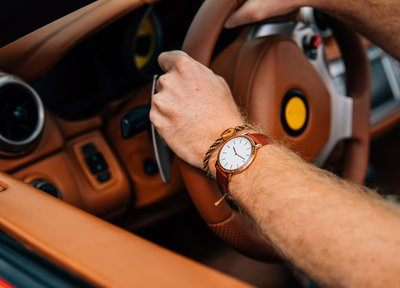 Wrist Watch On Driving Arm