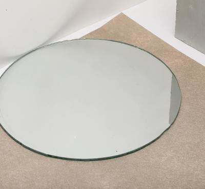 Round Mirror on Table