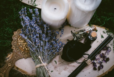 Lavender and candles