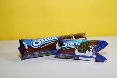 Oreo Chocolate Biscuits on Table