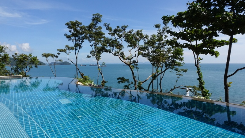 infinity Pool with Background View of Open Sea
